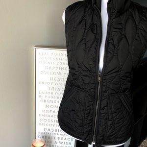 Old Navy Quilted Black Zip-Up Vest
